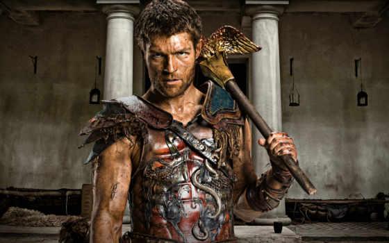 spartacus, кровь, песок, mcintyre, liam, серия,