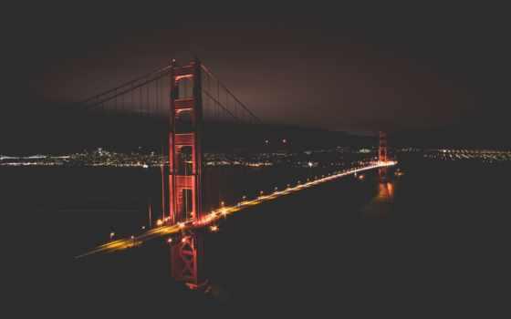 darkness, san, ну, francisco, улица, gate, мост, совершенн, job