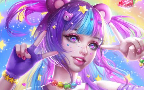 anime, art, картинка, стиль, game, девушка, волосы, drawing