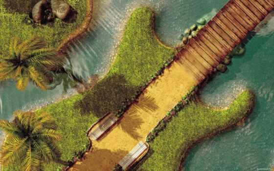 design, landscape, гитара, креатив