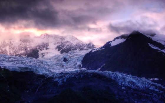 sunrise, glacier