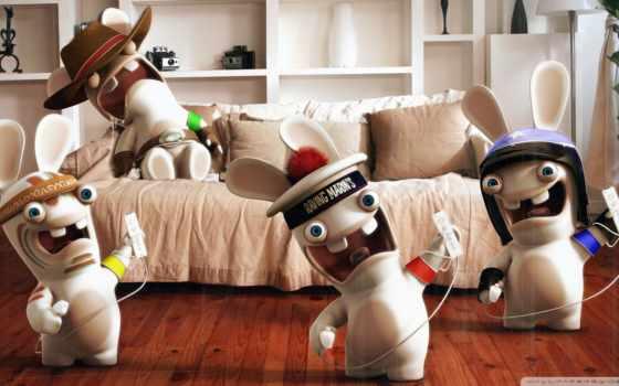кролики, rabbids, raving, бешеные, rayman,
