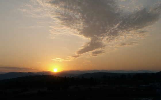 sun, горы, рассвет