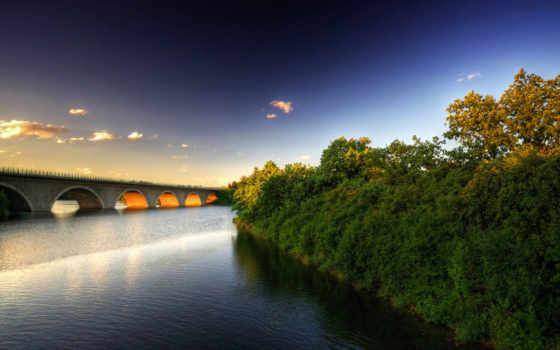 мост, июн, река