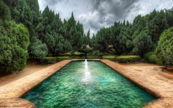 природой, windows, обновления, subscribe, daler, бассейн, можно, eti, деревя, water, fountain,