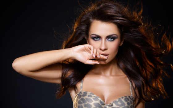 seductive, brunette, stock, женщина, фото, trance, portrait,