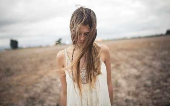 девушка, поле, firestock