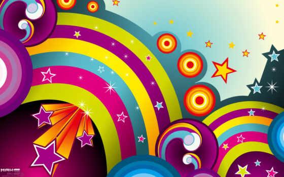 абстракция, звезды, линии, community, радуги, дерево, christmas, радуга, star,