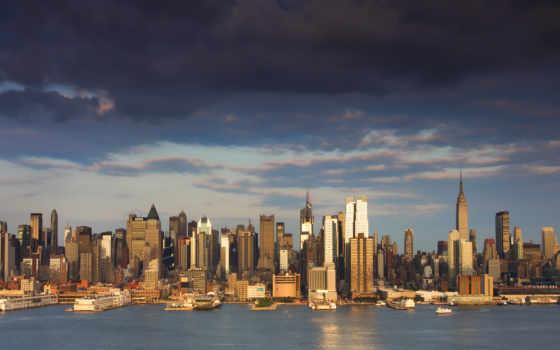 небоскребы, new, york