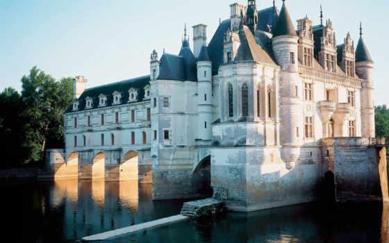 замки, франция, шенонсо, castle, chenonceau, our, château,
