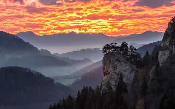природа, туман, фотографий, качественные, картинку, горы, восход, free,