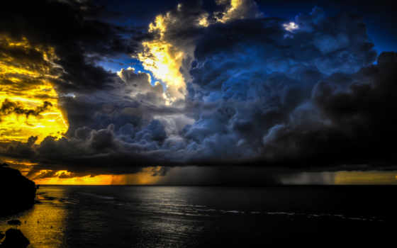 sky, clouds, sunset, ocean, bali, indonesia, big, gorgeous, calm, golden, pictures, download, pecatu, sea,