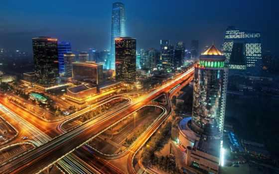 города, ночь, город