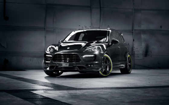 porsche, cayenne, black, techart,