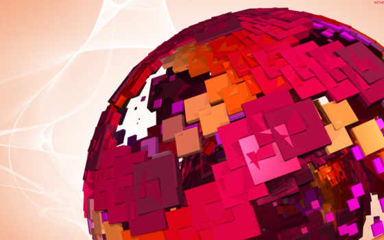 шар, abstract, розовый