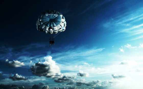 парашютный, небо, favourite,