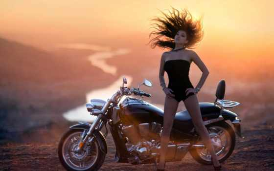 мотоциклы, мотоцикл, devushki