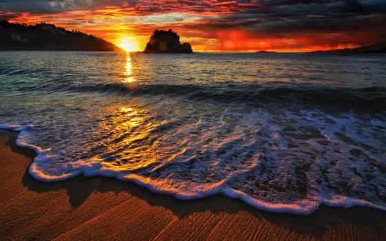 красивые, пляж, фоновые, лес, мостарый, дуб, закат, закаты, hdr, фоны,
