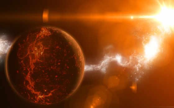 температура, лучи, star, planet, свет, desktop, тема,
