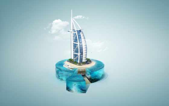 аль, burj, арабский, dubai, art, mobile, desktop, high,