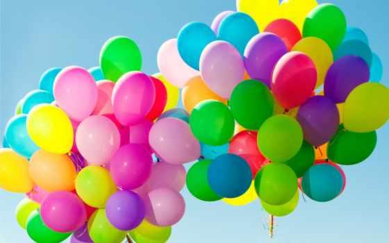 воздушные, aerial, shariki, шары, небо, высокого, мяч,