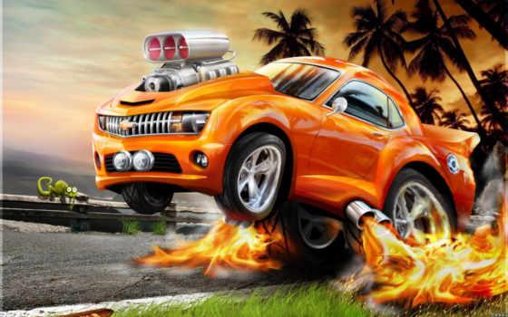 авто, chevrolet, горячая, тачка, огненный, camaro, автомобили, машина, графика, машины, смотрите, свой, пламя, хамелеон,