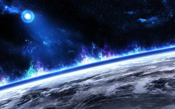 планета, космос, горизонт