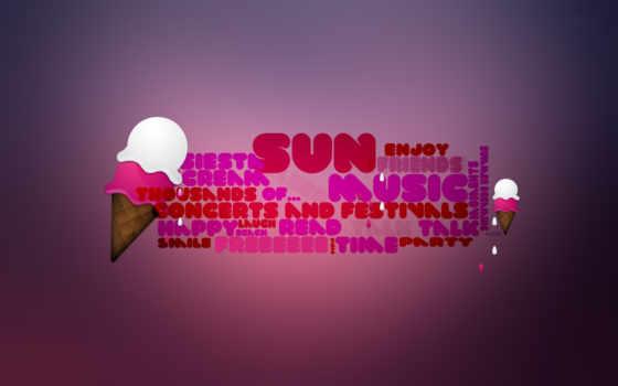 мороженое, розовый, надпись