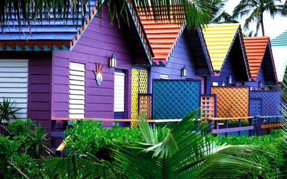 город, трава, код, островов, town, багамских, multicolored, здания, стран, iata, кодировка,