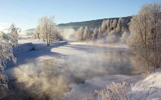 река, landscape, природа, winter, фоны, горы, категории, картинка, удивительная,