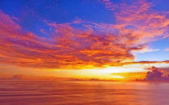 закат, free, ocean, pictures, high,