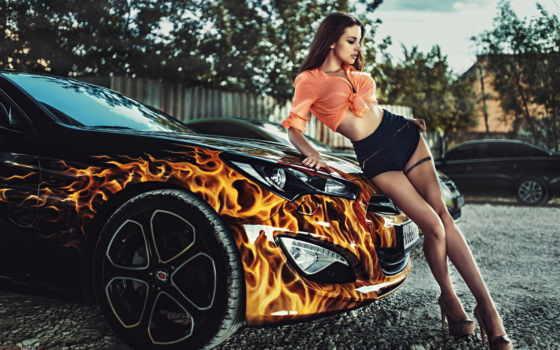 девушка, car, girls, плакат, cars, авто, custom, декор, more,
