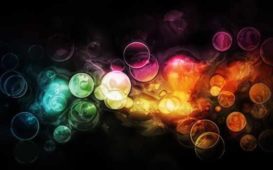 абстрактные, круги, свет, узоры, фоны, широкоформатные, абстракция, краски,