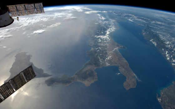 dallo, spazio, earth, fondos, italia, космос, ди, stampa,