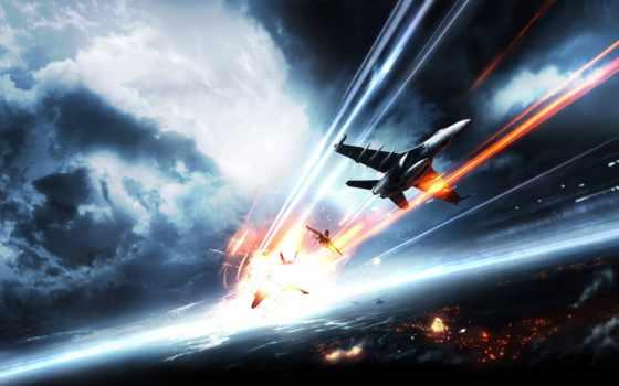 авиация, самолеты, battlefield, небо, город, самолёт,