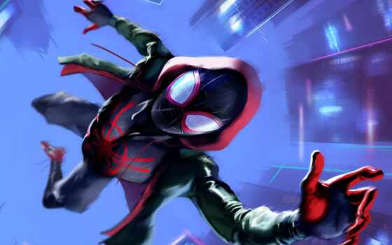 паук, into, стих, мужчина, spiderman, использование, pantalla, movie, verso