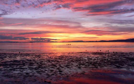 море, закат Фон № 12529 разрешение 1920x1200