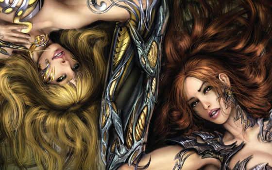witchblade, девушки, лежат