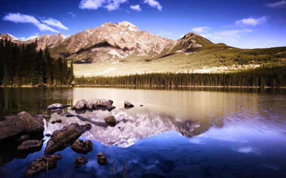 landscape, озеро, природа