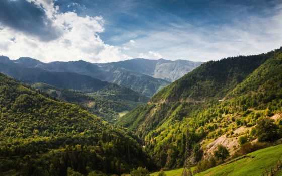 горы, грузия, грузии