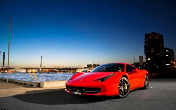ferrari, car, italia, desktop, red, город,