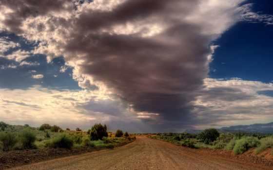 дорога, пасмурный, desktop, landscape, небо, природа, widescreen, android,