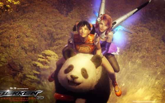 tekken, панда, кровь, vengeance, movie, anime, game, игры, кровная, месть,