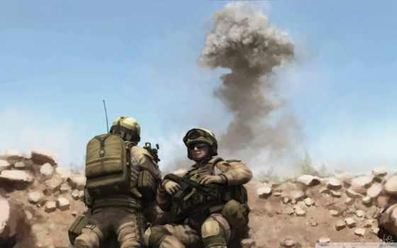 война, солдаты, взрыв