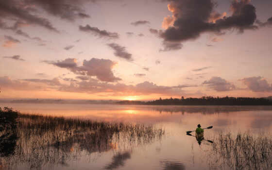 небо, закат, природа