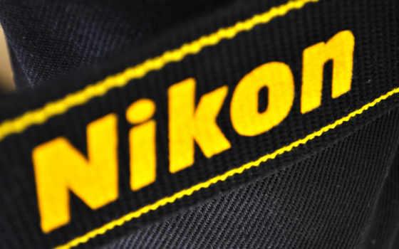 black, logo, nikon
