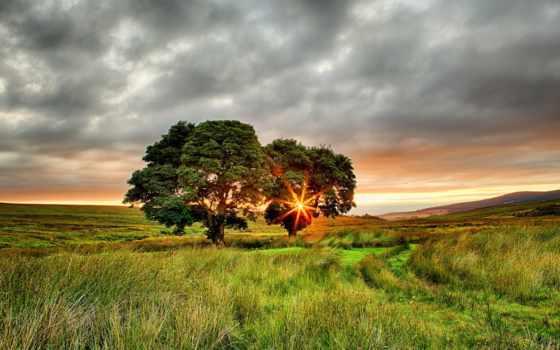 sun, закат, rays, природа, часть, rylik, восхитительный, поле, восхитительная, долина,
