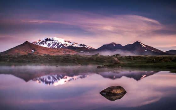 iceland, природы, вечер, фотограф, горы, красивые, озеро, пейзажи -, янв, wonisch,