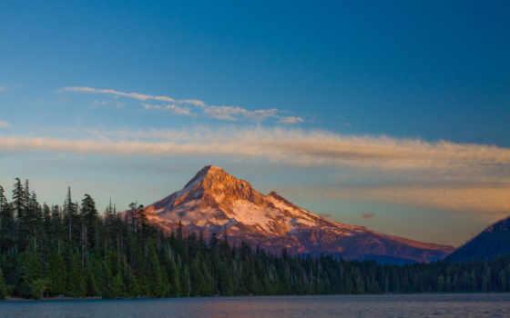 природа, лес, озеро, landscape, glacier, desktop, гора,