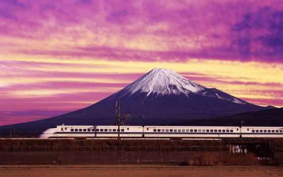 фудзи, mount, places, best, поезд, япония,